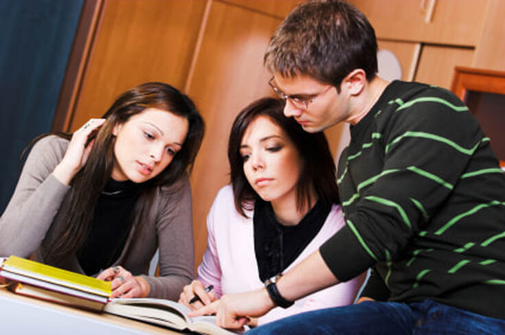 Image: Group of students studying